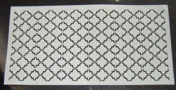 Quatre Foil Pattern Cake decorating stencil 6 inch deep