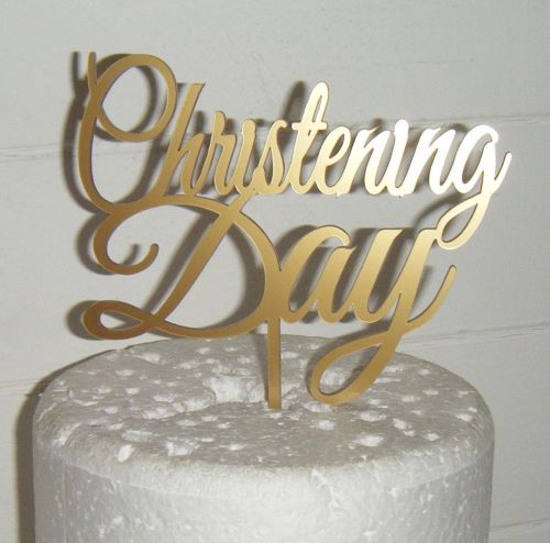 Christening day Cake topper
