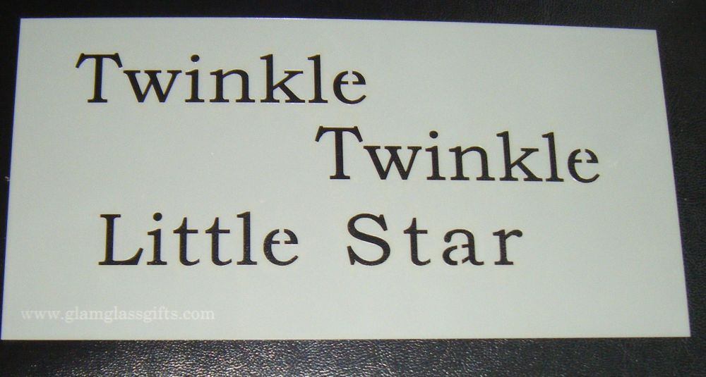 Twinkle Twinkle Little star cake or craft stencil