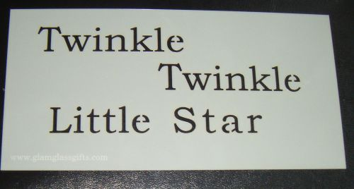 Twinkle Twinkle Little star cake or craft stencil