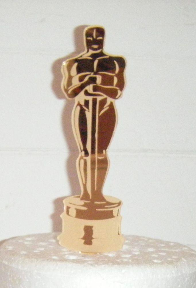 Oscar Statue Gold  Silhouette Cake Topper