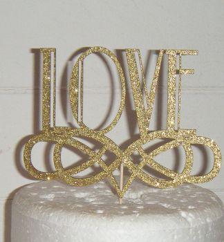 Love Art deco style Cake Topper