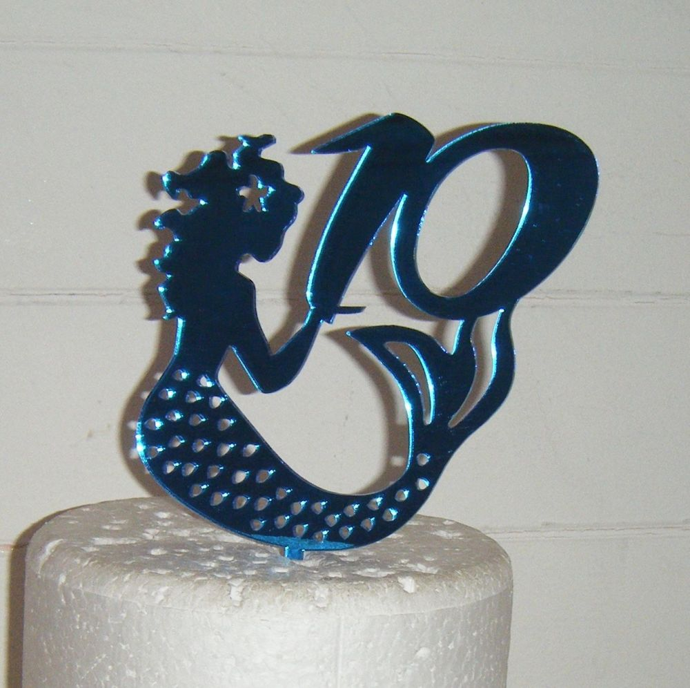 Mermaid Cake Topper with any number in same style