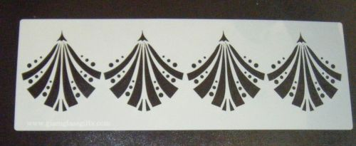 Art deco Fan Design 2 Cake decorating stencil Airbrush Mylar Polyester Fil