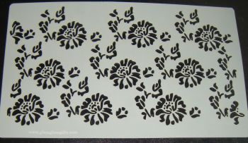 Floral Design Large Pattern Cake decorating stencil Airbrush Mylar Polyester Film