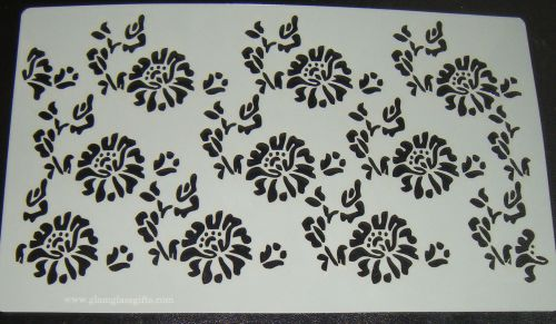 Floral Design Large Pattern Cake decorating stencil Airbrush Mylar Polyeste