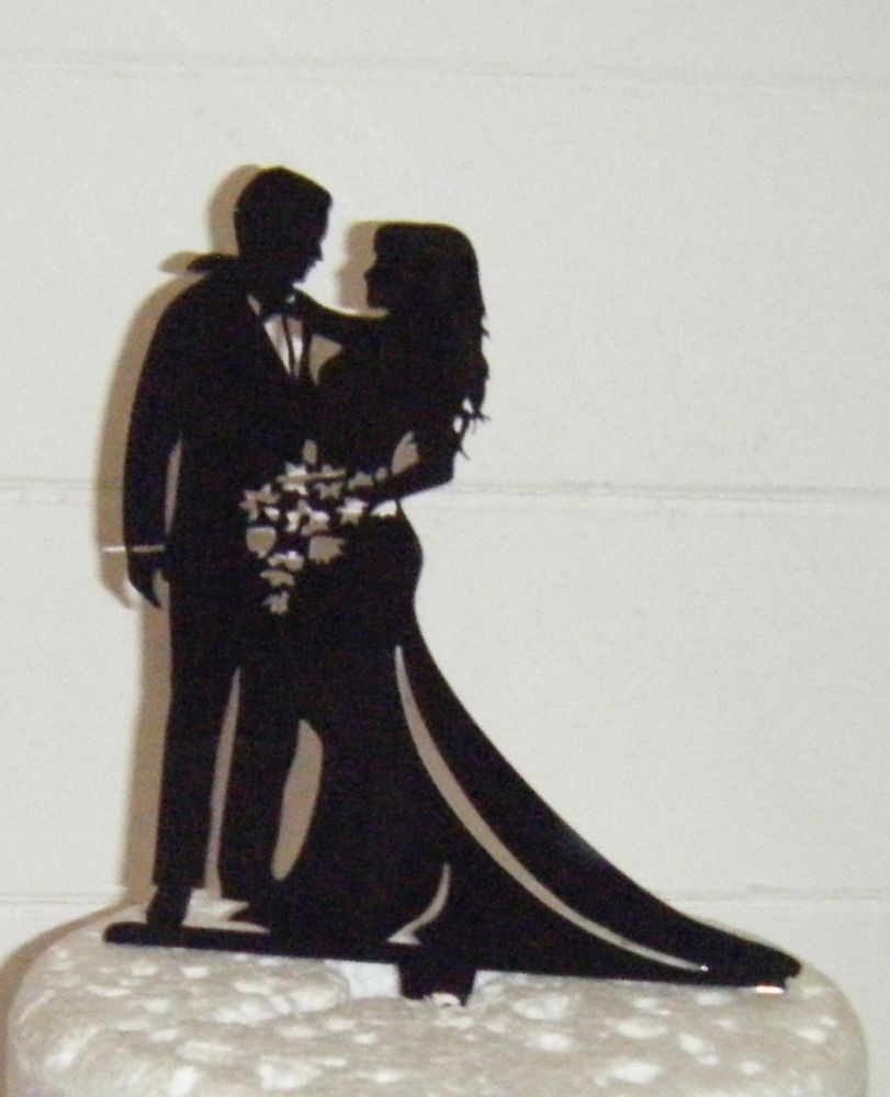 Wedding couple Silhouette Cake Topper 3