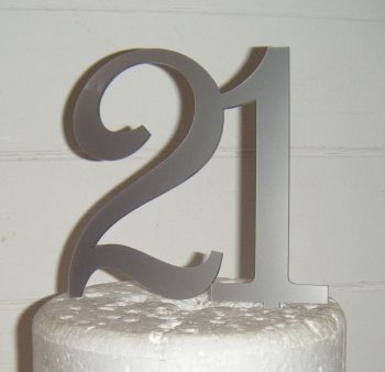 21 Cake Topper 5  (Sold design Exactly as shown)