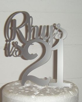 Name is number Custom Cake Topper 3