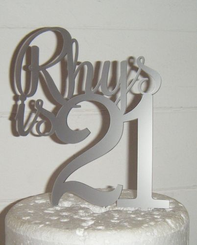 Number is name Custom Cake Topper 3