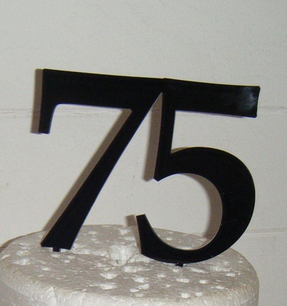 75 Cake Topper