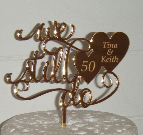 We still do with engraved hearts Acrylic Cake Topper