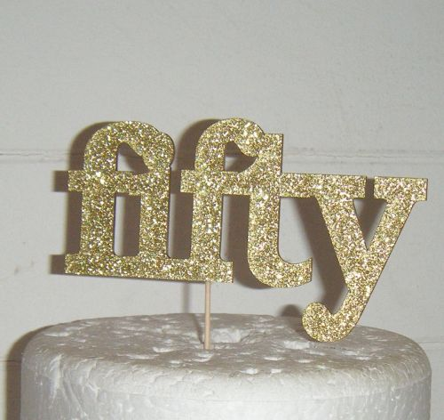 Fifty 50 Cake Topper 3