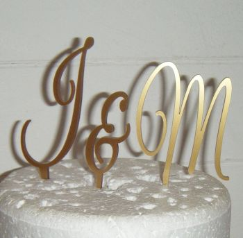 Great Vibes Initials Letters Topper