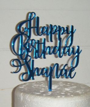 Happy Birthday Name Cake Topper (Rist)