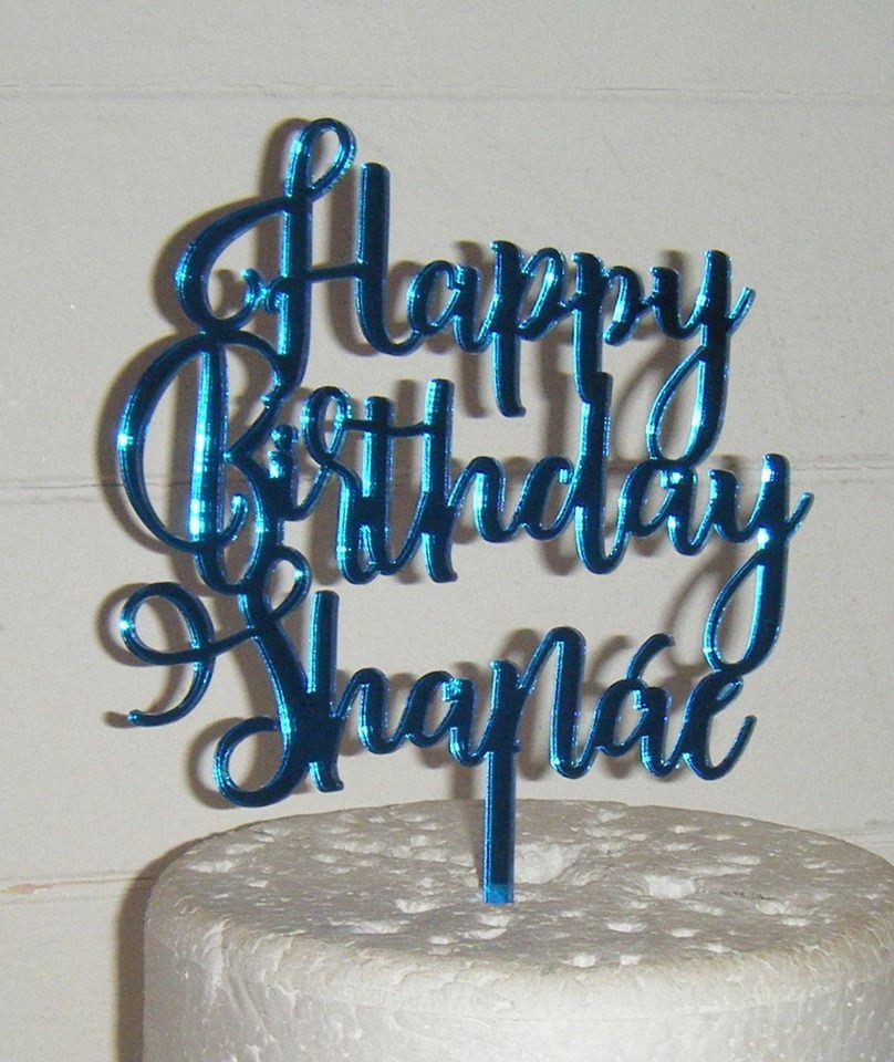Happy Birthday Name Cake Topper (Rist)