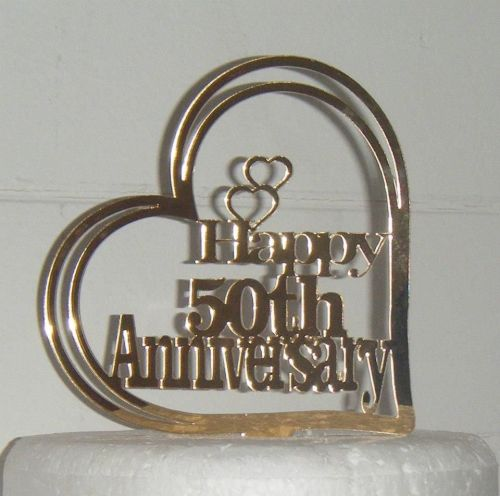 50th anniversary in Heart Cake Topper 25, 40, ANY number