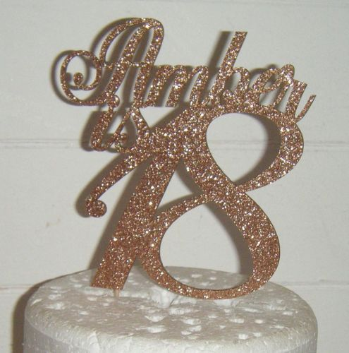 Number is name Custom Cake Topper 4