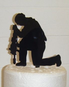 Soldier Remembrance Silhouette Cake Topper