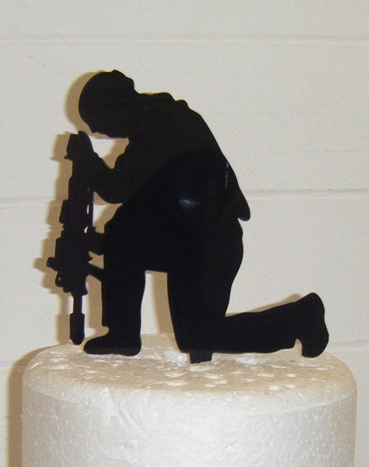 Soldier Rememberance Silhouette Cake Topper