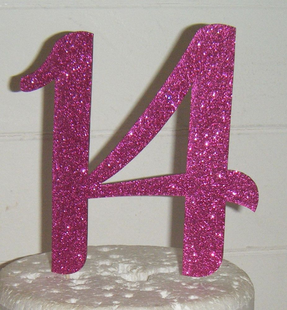14 Cake Topper   (Sold design Exactly as shown)