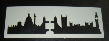 London (Vintage) skyline Cake stencil