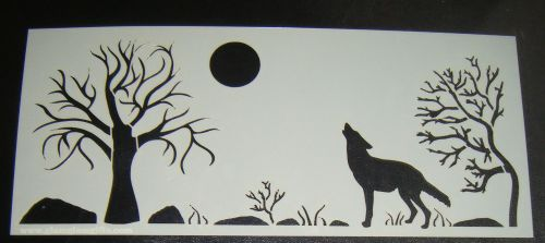 Howling Wolf Scene Cake Stencil Large 5 inch deep