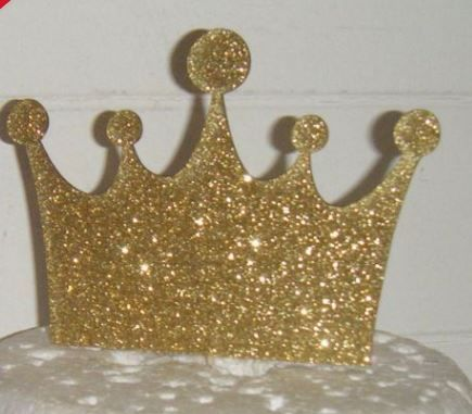 Crown Silhouette Cake Topper