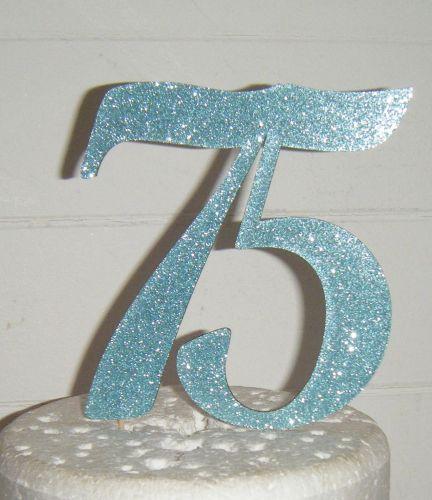 75 Cake Topper 3