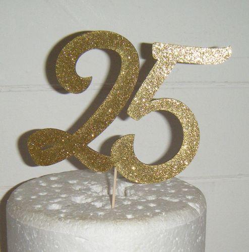 25 Cake Topper 2