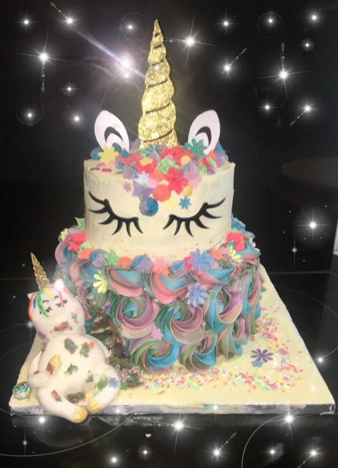 Unicorn Horn and Ear SET Silhouette Cake Topper