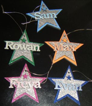 Star Name Christmas Tree Bauble Decoration