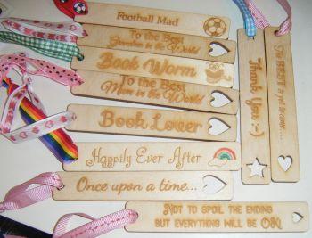 Custom Order Personalised Wooden Bookmark