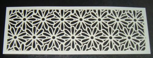 Floral Daisy Pattern Cake decorating stencil Airbrush Mylar Polyester Film
