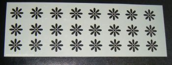 Floral Mini Daisy Pattern Cake decorating stencil Airbrush Mylar Polyester Film