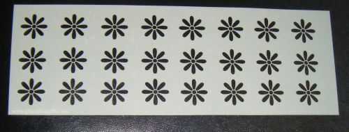 Floral Mini Daisy Pattern Cake decorating stencil Airbrush Mylar Polyester