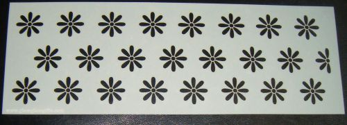Floral Offset Mini Daisy Pattern Cake Decorating Stencil 4 inch deep
