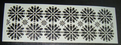 Floral Mixed Daisy Pattern Cake Decorating Stencil 4 inch deep