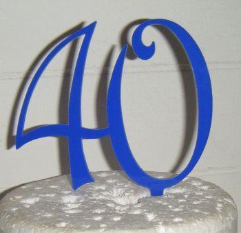 40 Cake Topper 2