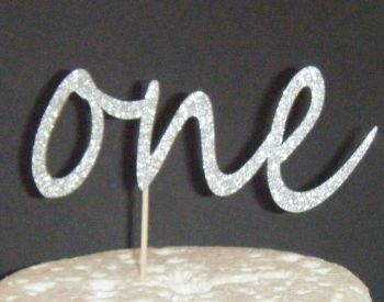 Number One Cake Topper style 4
