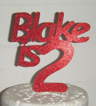 Name is number Custom Cake Topper 4 (com)