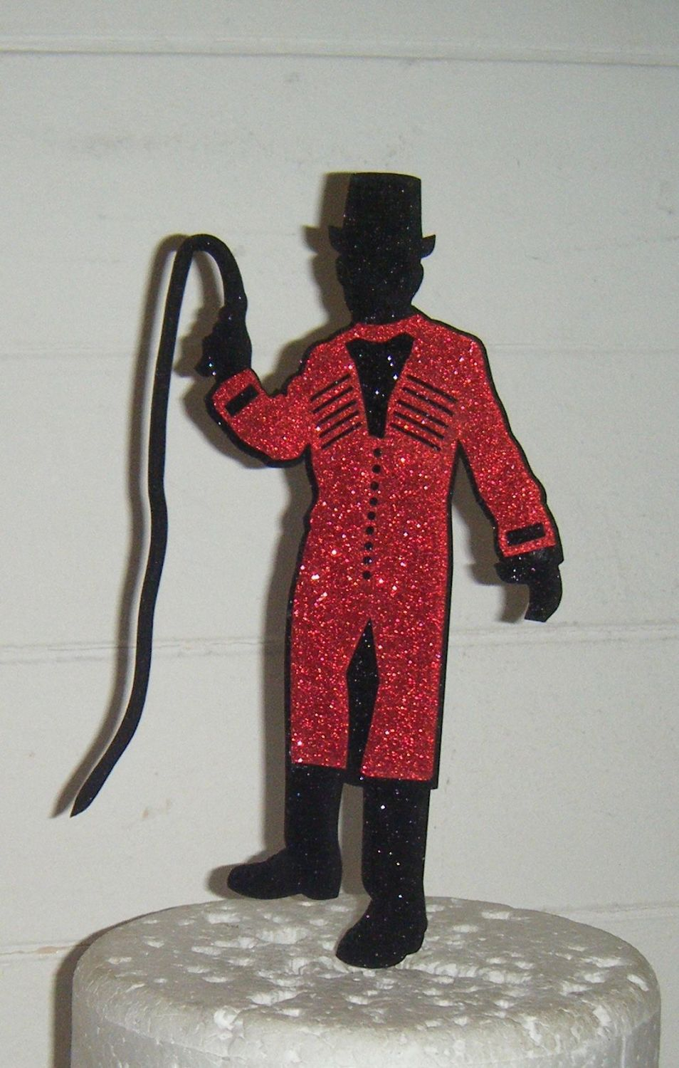 Circus Ringmaster as shown only in card Cake Topper