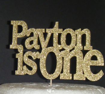Name is One Cake topper (or any number) design 2