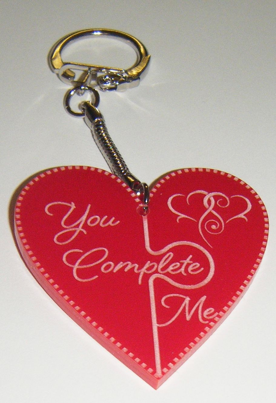 You Complete Me Jigsaw Style Keyring