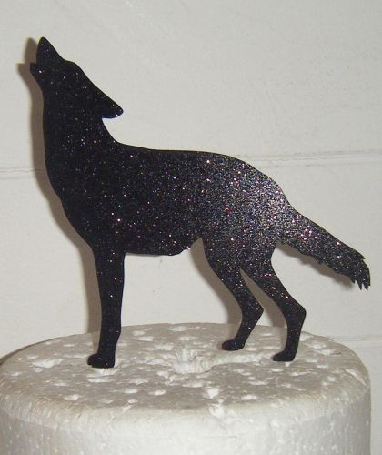 Wolf Silhouette Cake Topper