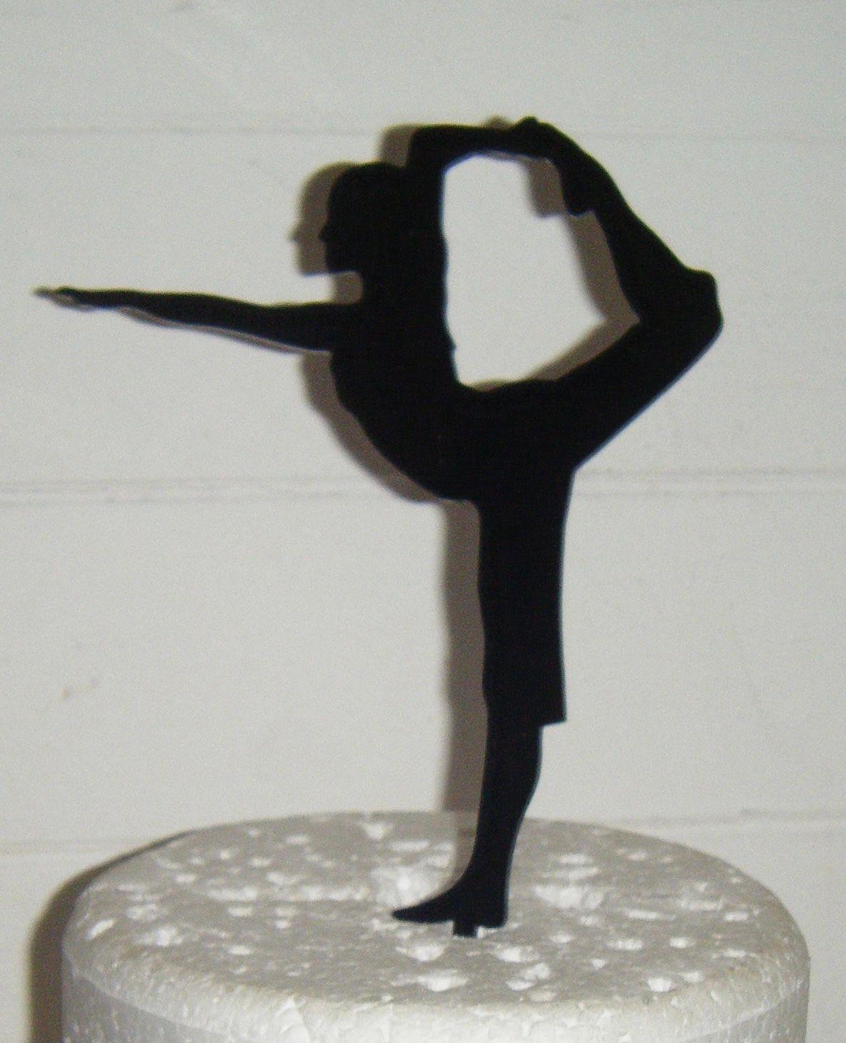 Yoga Woman Cake Topper