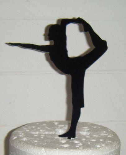 Yoga Pose Woman Silhouette Cake Topper