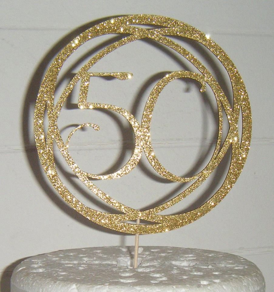 Circle Geometric style  Cake Topper any number, 21, 30, 40, 50, 60, 70etc