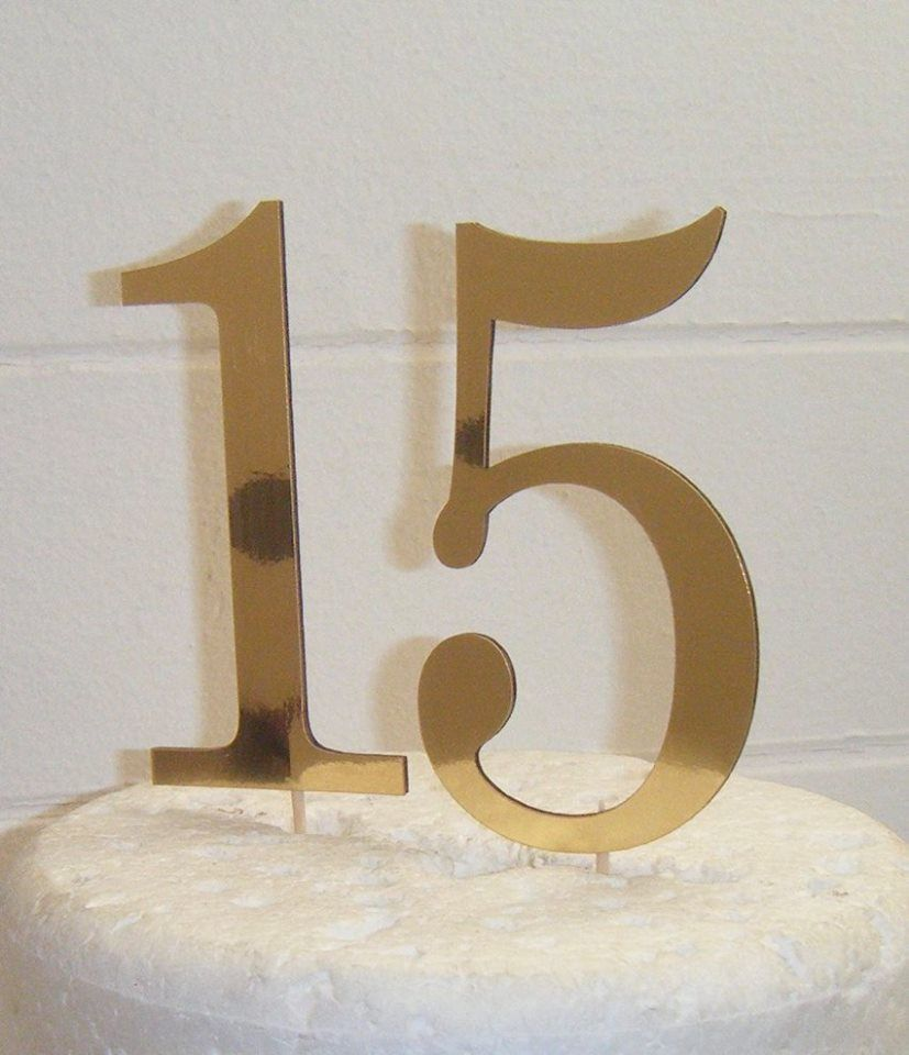 15 Cake Topper  (Sold design Exactly as shown)