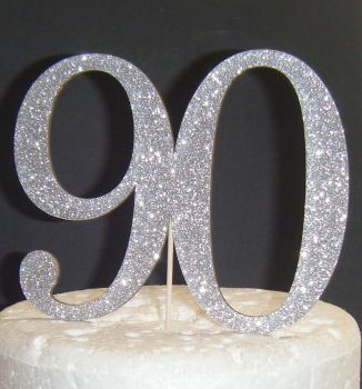 90 Cake Topper  (Sold design Exactly as shown)